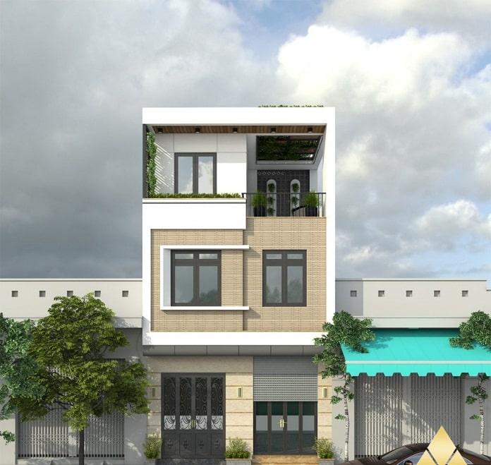 nhà phố 3 tầng hiện đại 2
