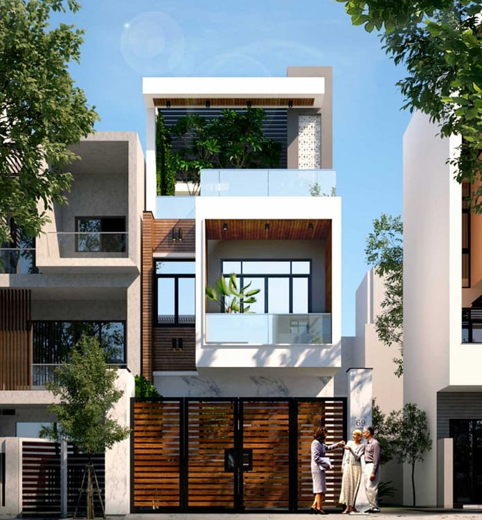 nhà phố 3 tầng hiện đại 4
