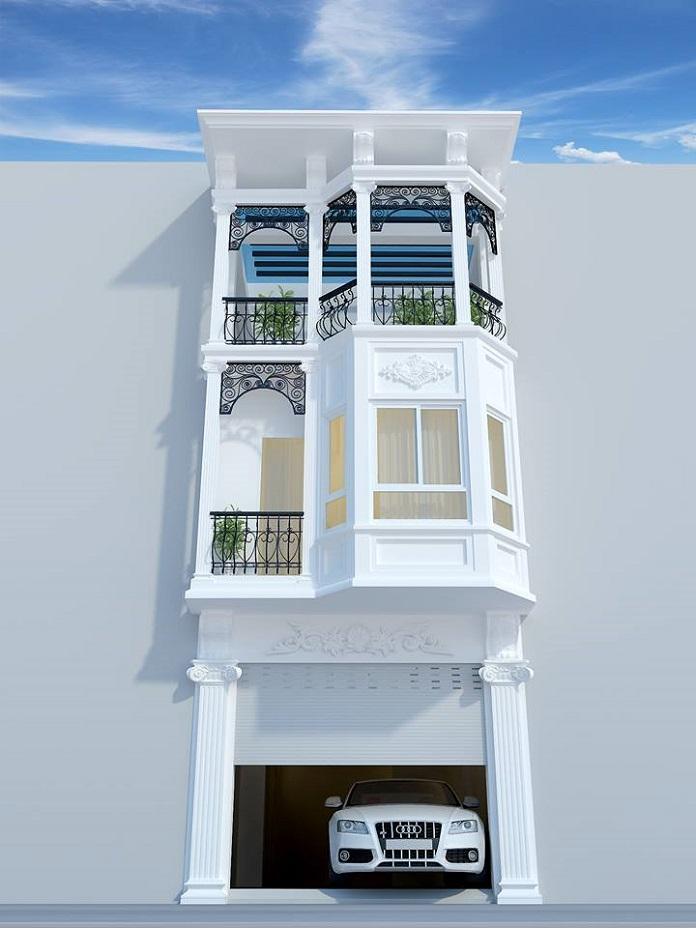 nhà phố tân cổ điển 3 tầng 1