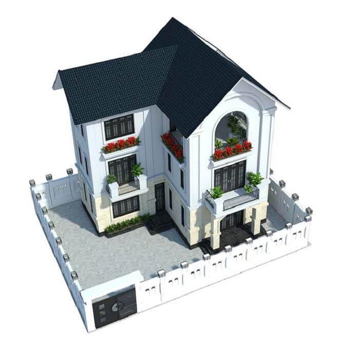 nhà phố tân cổ điển 3 tầng 5