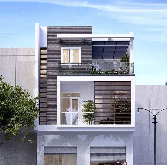 thiết kế nhà đẹp 3 tầng mặt tiền 7m 2