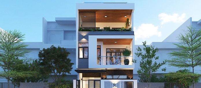 thiết kế nhà đẹp 3 tầng mặt tiền 7m 3