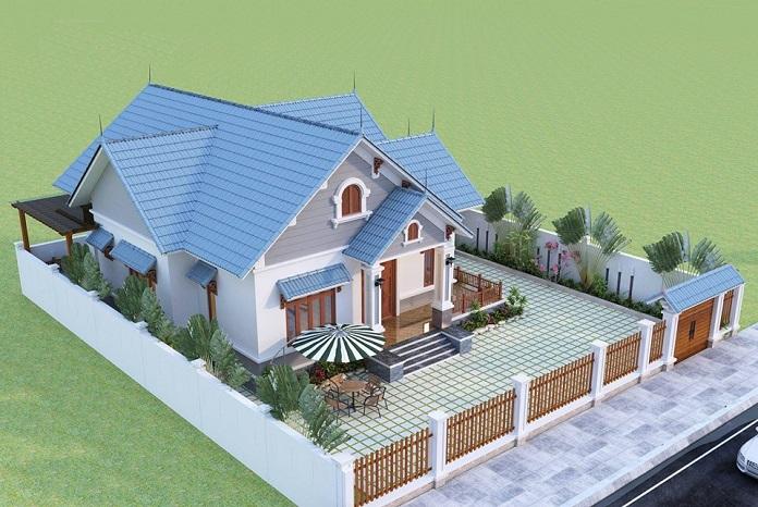 thiết kế nhà vườn đẹp 1