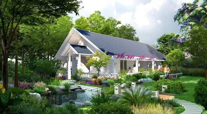 thiết kế nhà vườn đẹp 4